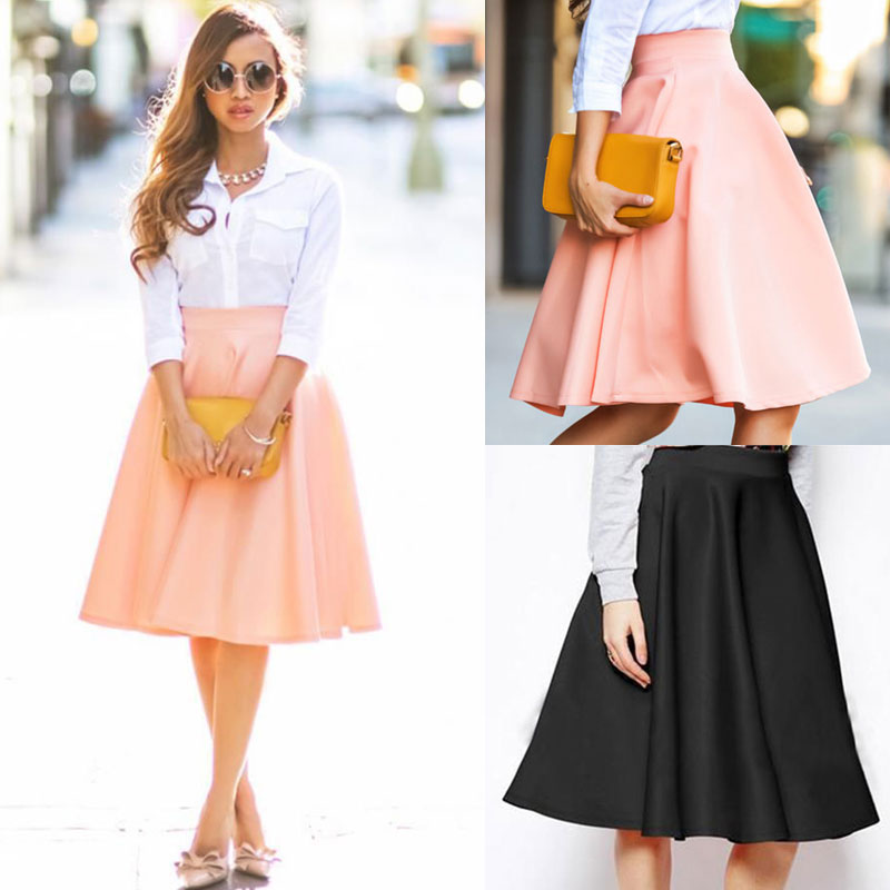 Pink Long Flare Skirt Promotion-Shop for Promotional Pink Long ...