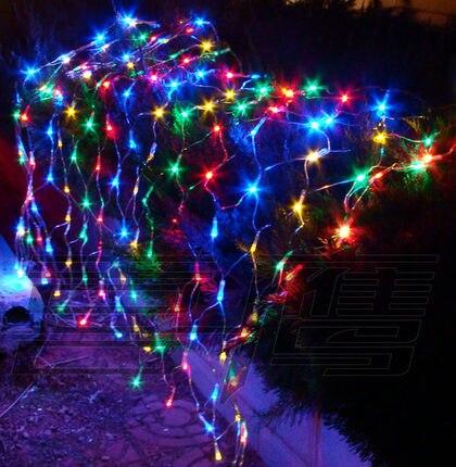 Новый год 1.5x1.5 м AC220V LED Рождество огни гирлянды decoratives Гирлянды СВЕТОДИОДНЫЕ Чистый свет Рождество decro Luces de Navidad