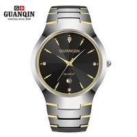2018 GUANQIN Men Watch Tungsten Steel Watch 30 m Waterproof Quartz Watch Luxury Brand Men Analog Wristwatches Men Clock Watches