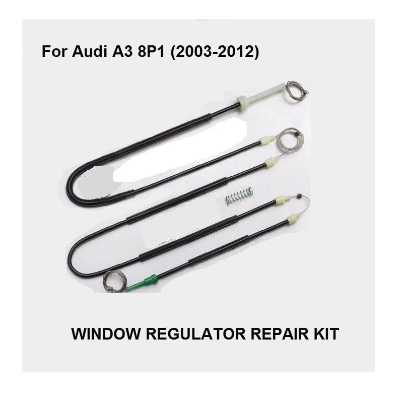 FREE SHIPPING CAR WINDOW PARTS FOR AUDI A3 8P WINDOW REGULATOR REPAIR KIT FRONT LEFT 2/3 DOORS 2003-2012 NEW