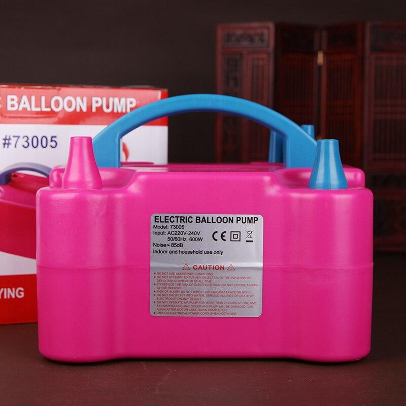 Haute tension Double trou Ac gonflable électrique ballon pompe Air électrique gonfleur pompe Portable Air souffleur Shopping gratuit