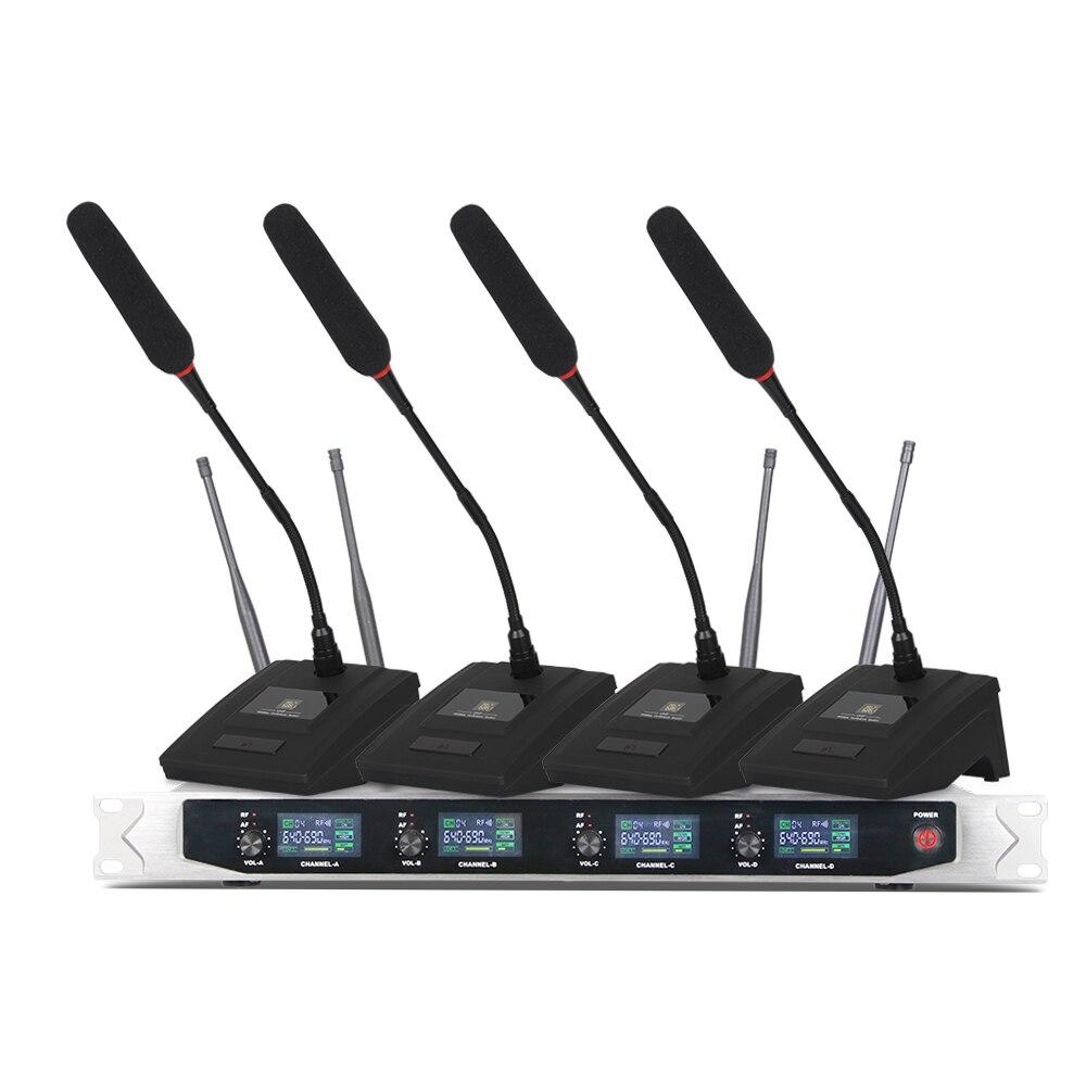 Système sans fil de microphone de col de cygne debout de bureau de Depusheng DF204 pour le système de conférence