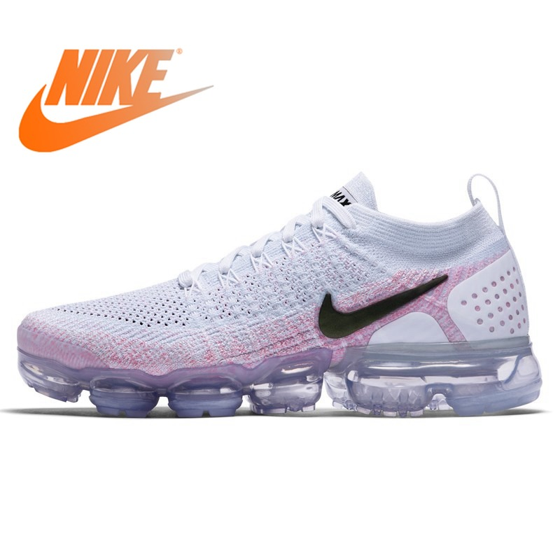 online store 2d641 0d08c US $46.09 62% OFF|Original New NIKE Air Max Vapormax Flyknit Women's  Running Shoes Sports Mesh Breathable Waterproof Slow Shock Sneakers  Women-in ...