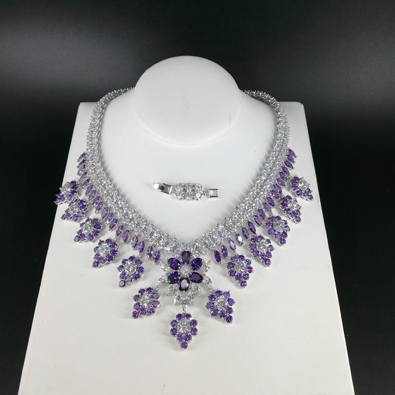 2019 noua moda de lux retro romantice violet flori violet colier - Bijuterii de moda - Fotografie 5