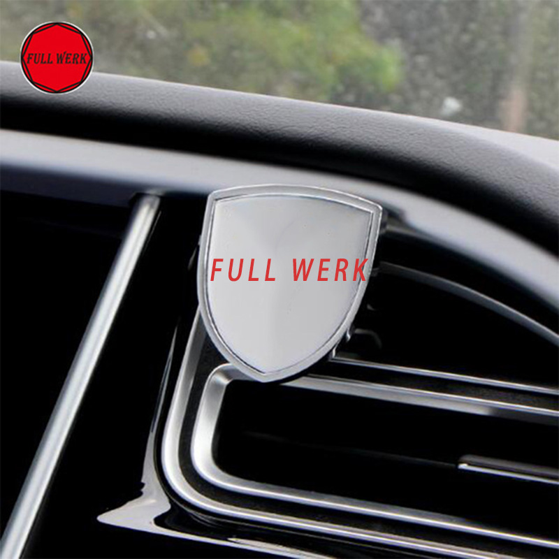 Car Air Vent Clip Solid Perfume Air Freshener Bracket Mount Holder with Logo for Tesla Model S Model X Interior Accessories
