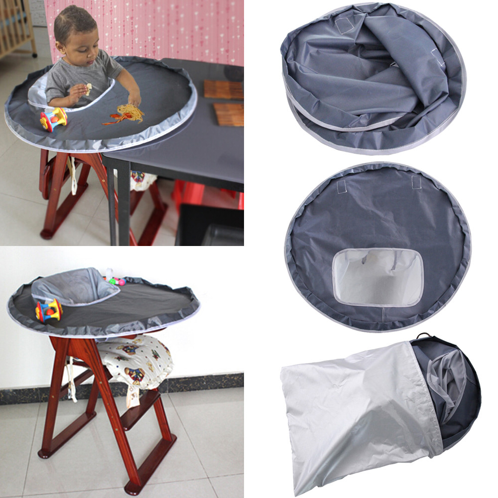 New Fashoin Baby Dinner Mat Cover Napkin Waterproof Highchair Bumper Pad Place Mat Baby Throw Food Apron Useful Dinner Mats