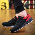 Men Shoes Lace-Up Fashion Canvas&suede Casual Shoes Mixed Colors Mens Trainers Breathable Flats Walking Shoes Zapatillas Hombre