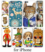 Stay cute animal figure Hard Case Cover for iPhone 7 7 Plus 6 6S Plus 5 5S SE 5C 4S Case Cover
