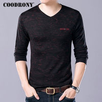 COODRONY Soft Cashmere Sweaters 2017 Autumn Winter Warm Wool Sweater Men Business Casual V Neck Pullover