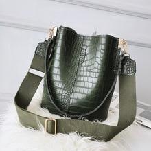 Alligator femmes sacs seau motif Crocodile grande capacité Sac à main décontracté rétro épaule sacs de messager dames PU Sac à main