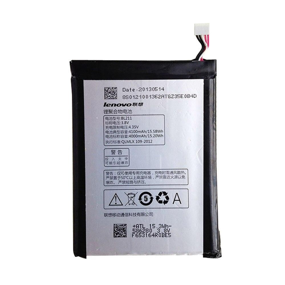 For Lenovo P780 Battery BL211 4100MAh Replacement Battery For Lenovo P780 Smartphones