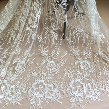 New European and American Embroidery Lace Fabrics Big Flower Dendy Bright DY Accessories