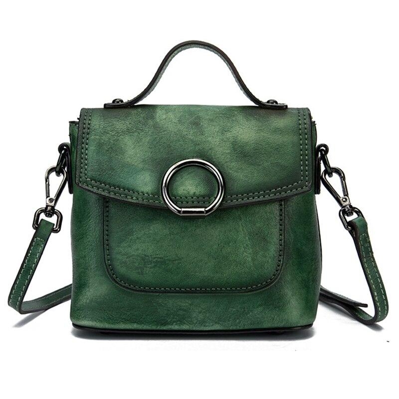 ของแท้กระเป๋าหนังไหล่ Messenger Cross Body กระเป๋าถือกระเป๋าถือแปรงสี Vintage กระเป๋าผู้หญิง Top Handle Flap กระเป๋า-ใน กระเป๋าสะพายไหล่ จาก สัมภาระและกระเป๋า บน AliExpress - 11.11_สิบเอ็ด สิบเอ็ดวันคนโสด 1