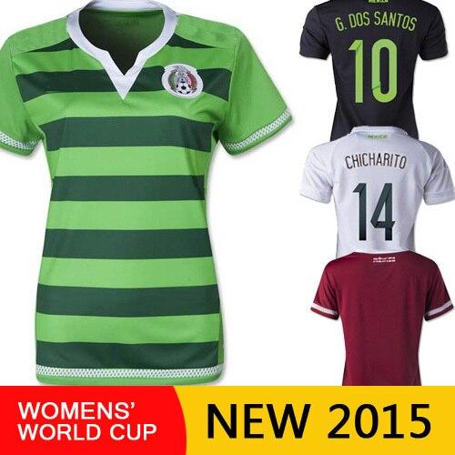 d428f32616b2a Free shipping football shirt Marquez 15 16 Mexico women world cup 2015 girl  lady soccer jerseys mujeres camisetas de futbol en Camisetas de fútbol de  ...