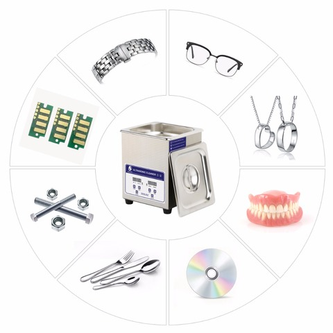 SKYMEN Digital Ultrasonic Cleaner Bath 2L 60W 40kHz for Medical and Dental Clinics, Tattoo Shops, Scientific Labs and Golf Islamabad