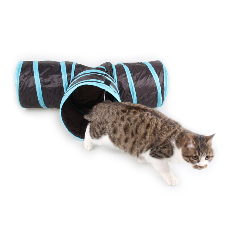 2018 Home Folding Training Tunnel Cats Toys New Funny Y Shape 3 Ways Pet Foldable Toys Cat Tunnel Tent Nest Toys