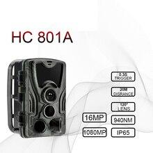 Caça câmera 16mp trail câmera noite versão ip65 animais selvagens câmera de vigilância chasse scouts gsm hc801a caçador