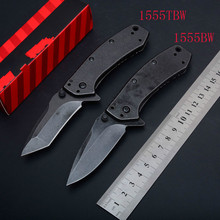 NEW 1555TBW/1555BW 8cr15 Blade Steel handle outddor Camping pocket knife Tactical Survival hunting folding Knives EDC hand tool