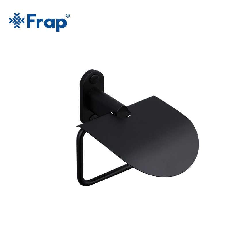 Набор аксессуаров для ванной комнаты Frap, черный алюминиевый настенный крючок для полотенец, семь штук, Y18050
