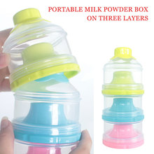 Новая портативная бутылочка с тремя решетками для сухого молока, Диспенсер, контейнер для еды, коробка для кормления детей, коробка для хранения еды для малышей