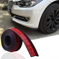 2 5M Rubber Car Front Bumper Lip Splitter Spoiler Skirt Anti Collision Protector Cover Trim For