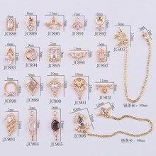 Cristal de Zircon diamant 3D, 20 pièces/lot, bijoux de décoration pour ongles japonais, nail art, décoration de manucure en cristal de qualité supérieure
