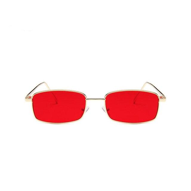 Mulheres De Metal Óculos De Sol Dos Homens Retro Quadrado Pequeno Óculos de Sol  Feminino Óculos d60e8d8f04