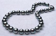 Eternal wedding Women Gift word 925 Sterling silver real natural big Huge1811-12mm tahitian genuine bla