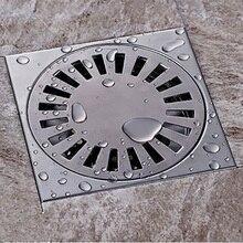 15x15 см SUS 304 из нержавеющей стали квадратный душ Трап со съемное сито