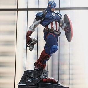 Image 4 - Comic version Captain America 21 inch  53cm*25cm*28cm  statue PU