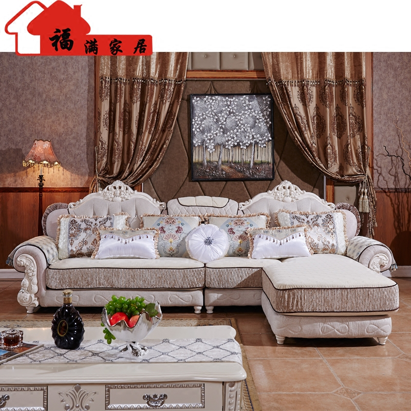 Popular European Style Living Room Furniture Sectional Sofas In High Quality Fabric U02 Free Shipping