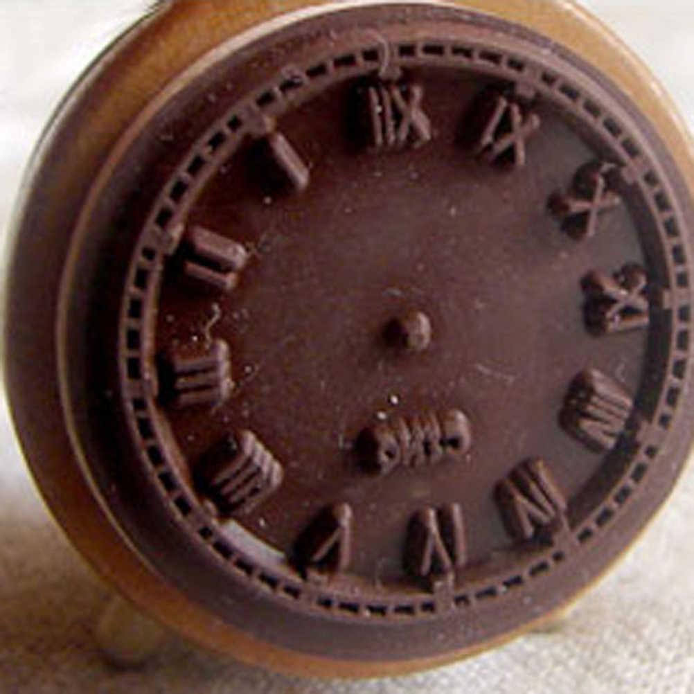 1 Máy Tính Tự Làm Con Dấu Tem Vintage Bằng Gỗ Cao Su Dấu Cổ Điển Đồng Hồ Báo Thức Để Bàn Cho Nhật Ký Sổ Lưu Trang Trí Bán