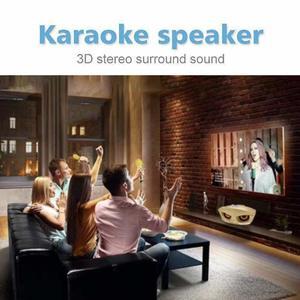 Image 4 - SDRD Wireless Karaoke Speaker Sd Dual Wireless Microphone Bluetooth Speaker Mobile Wireless Stereo 20w HOME Ktv Speaker MIC Set