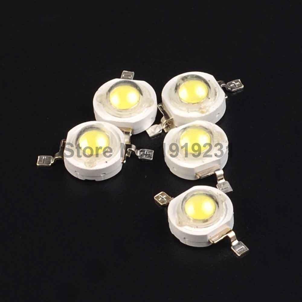 20PCS High Power 3W LED Chips Beads Bulb Diode Lamp White for LED Spotlight