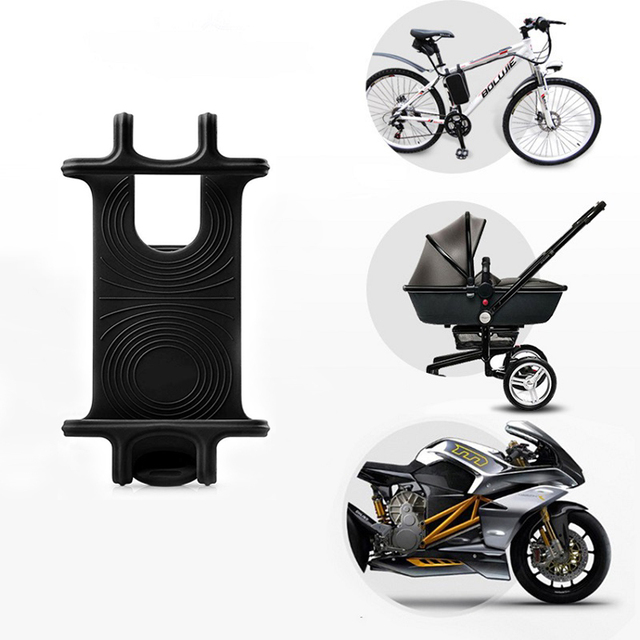 Universal silicone Bicycle Motorcycle Mobile Phone Holder Bike Mount phone holder For Cellphone GPS Baby Carriages Stand