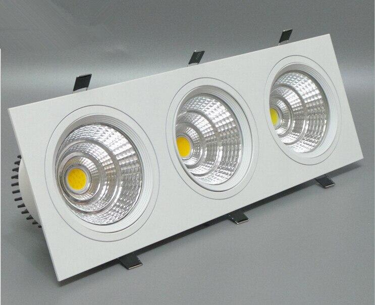 New Style 10pcs/lot Dimmable 30W COB led lights Grille CREE led chip 3x10w COB led light led lamp lights CE&ROHS
