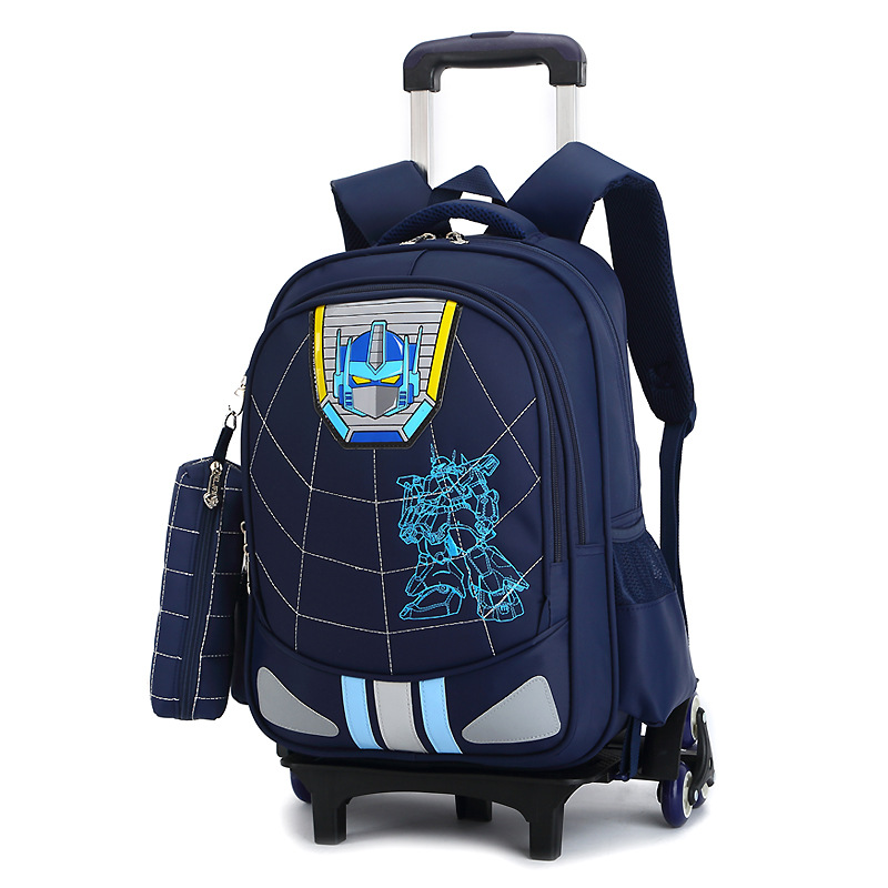 ФОТО Children School Bags with 3 Wheels Mochila Infantil Child Climb Stair Trolley Backpack Kids Wheeled Bags Boys Girls Bookbag