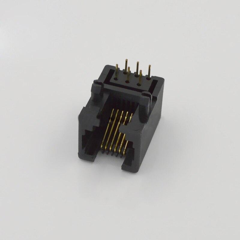 10 stücke Rj11 buchse Kabelstecker 6 pin Telefon schnittstelle ...