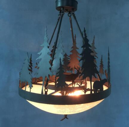 American Pendant Lights country retro iron forest antlers Nordic creative restaurant small living room bar dining room LU725235 lamps new crystal pendant lights nordic european style living room restaurant bedroom modern minimalist american country iron