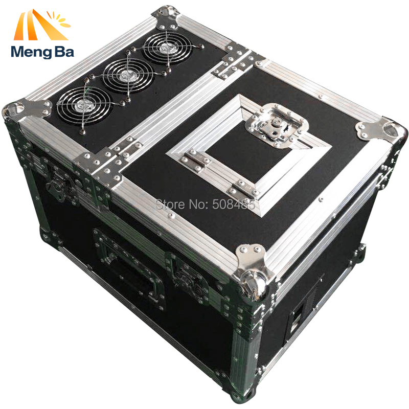 New 600w Professional haze machine dual <font><b>hazer</b></font> machine fog smoke machine dmx512 with flight case <font><b>stage</b></font> machie effect image