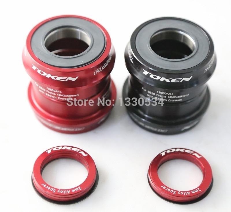 TOKEN BB30 Ceramic Press-Fit Bottom Bracket / 7075AL CNC Axis / Bike Bicycle Axis GXP 24mm/22mm