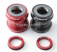Token bb30 cerâmica imprensa ajuste suporte inferior/7075al cnc eixo/bicicleta eixo da bicicleta gxp 24mm/22mm|token bb30|bottom bracket|ceramic bottom bracket -