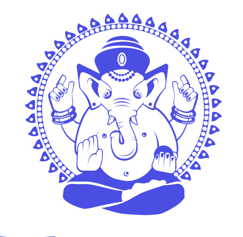 US $12 39 20% OFF|Ganesha Elephant Wall Decal Indian Design Vinyl Stickers  Lord of Success Home Interior Art Murals Bedroom Decor-in Wall Stickers
