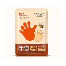 1 пара, медовая увлажняющая эссенция для отбеливания, маска для рук, увлажняющие перчатки, против морщин, разглаживающая, восковая маска для рук, уход за руками