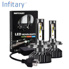 Infitary 2pcs H4 LED H1 H11 9006 H7 LED ZES Car Headlight 72W 8000LM Auto Headlamp Light Bulb Fog Lights White 6500K 12V Lamp(China)