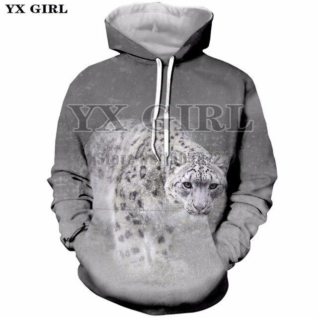 db7f1789c611 YX Girl Unisex Clothes 3d Animal Printed Sweatshirt Snow Leopard Hoodies  Men/Women Casual Hoodie Autumn Tracksuit Dropshipping