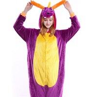 Dinosaur Adults Pajamas Flannel Pyjamas Anime Cosplay Costumes Adult Cartoon Animal Onesies Sleepwear For Men Women
