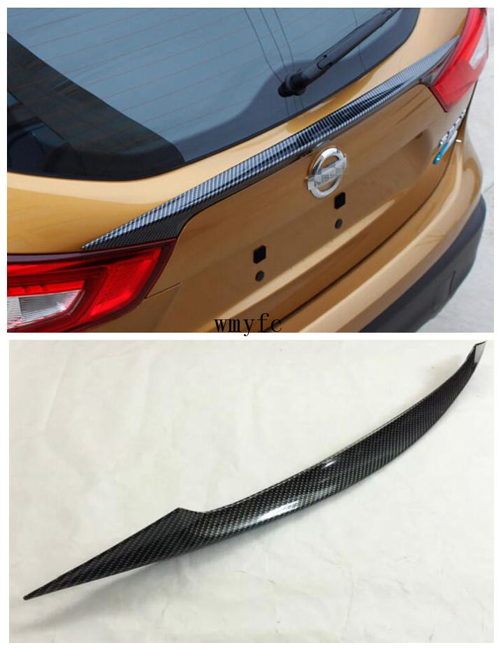 ACCESSORIES FIT FOR NISSAN QASHQAI J11 2014 2015 2016 2017 TAILGATE DOOR CARBON FIBER SPOILER COVER TRUNK DOOR LID TRIM