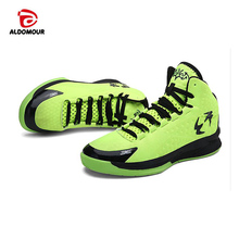ALDOMOUR Basketball Shoes Sneakers Sports Entertainment High Cut Men Basketball Shoes Cheap Light Sneakers Plus Size Sport Shoes