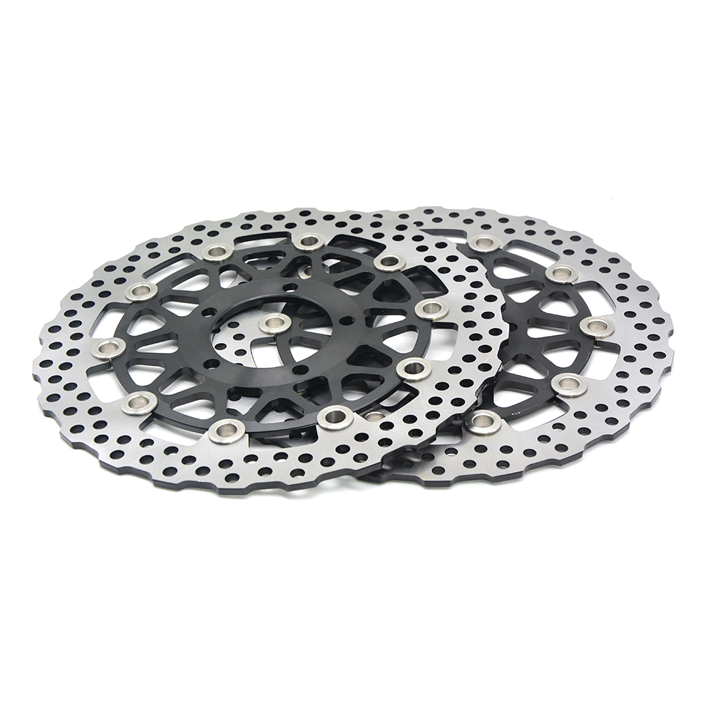 One Pair CNC Floating Front Brake Disc Rotors For KAWASAKI NINJA 636 ZX6R Z800 GTR ZZR ZG 1400 ZX10R 2013 2014 2015 2016 2017 in Brake Disks from Automobiles Motorcycles